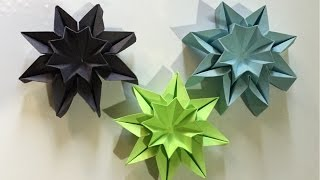 Origami STAR FLOWERS - wall decor