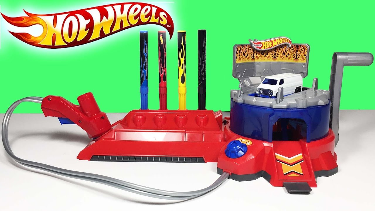 Hot Wheels Araba Boyama Seti Oyuncak Acma Super Oyuncaklar Youtube