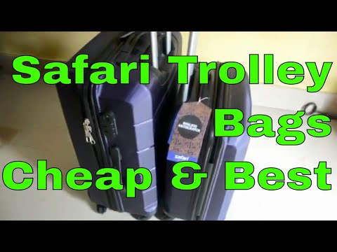 Unboxing Safari Re-Gloss Anti Scratch Purple Set of 2 Small, Medium Trolley Bag