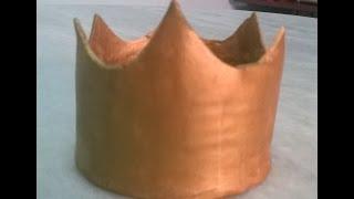 Como fazer coroa de pasta americana/topo de bolo/coroa de princesa para bolo/crown of fondant