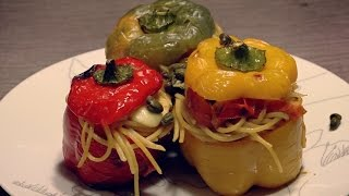 The Spaghetti Filled Peppers - italian food recipe
