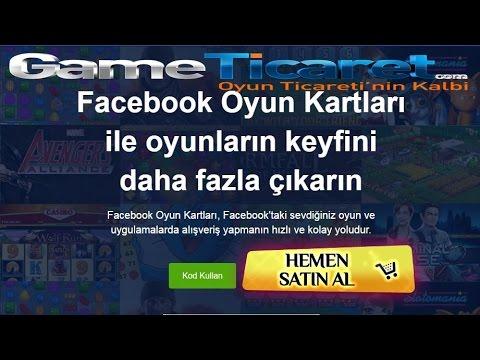 Facebook E-pin Oyun Bakiye Kodu Satın Al - Facebook Gift Kart Yükleme