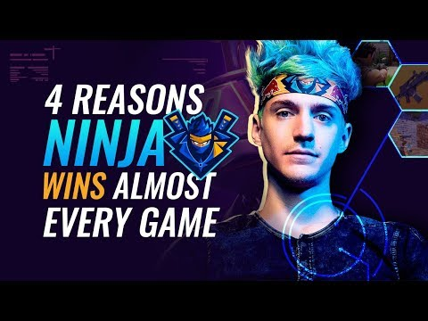 4 Reasons why Ninja WINS SO MUCH   Fortnite Battle Royale PRO Tips