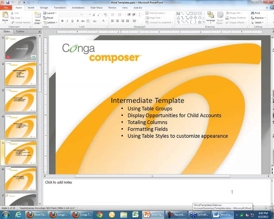 Webinar - Creating Word Templates for Conga Composer Release 7 - YouTube
