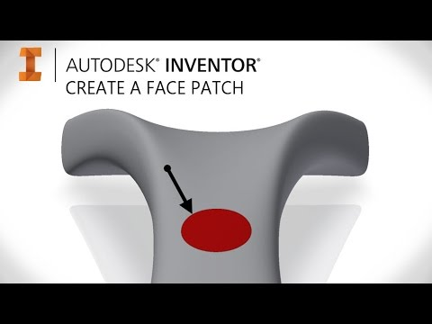 Create a separate coloured patch on a face | Autodesk Inventor