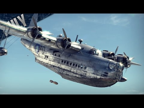 TEABAG TRANSPORT - British Sunderland (War Thunder Plane Gameplay)