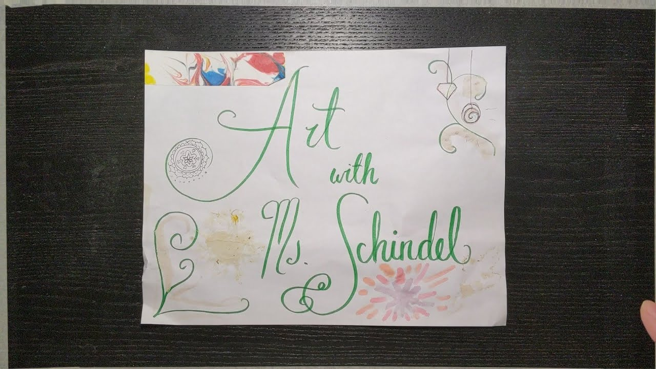 Ms Schindel's Virtual Art Class - #6 Food Colouring Watercolours