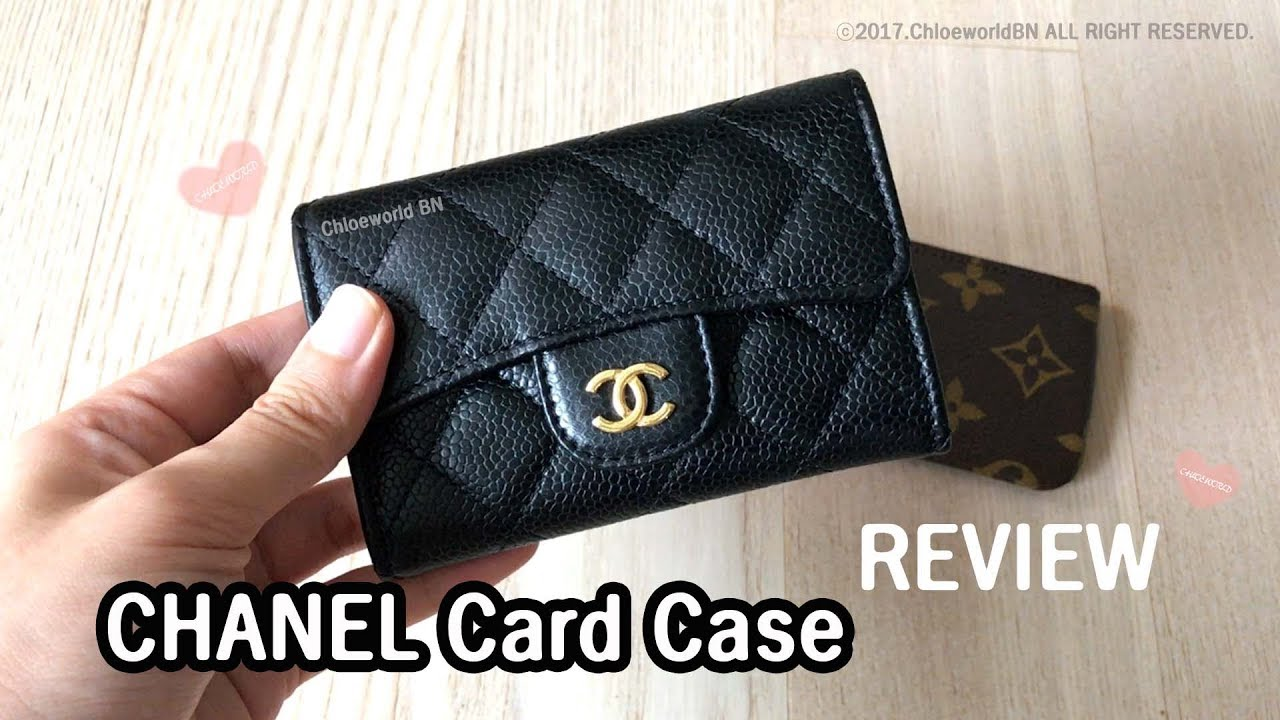 ffe33d8b511d CHANEL Card Case Review, Caviar Leather,What fits inside?vs Louis Vuitton  Cles