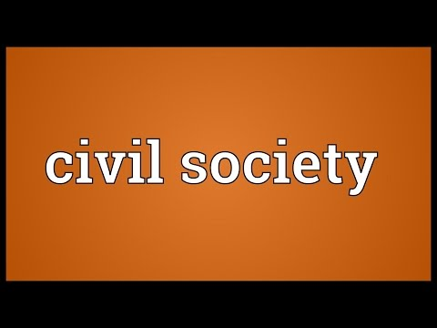 Civil society Meaning