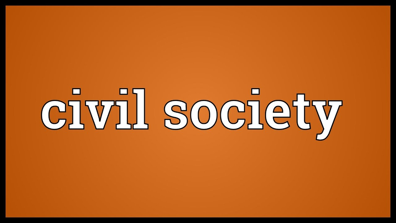 what does civil society mean