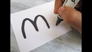 "How to turn Letter ""M"" into a Cartoon CAMEL ! Fun with Alphabets Drawing for kids"