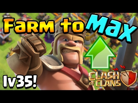 Clash of Clans: TH10 Farm to Max! LV35 KING!!