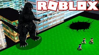 GODZILLA HAS ARRIVED TO THE CITY OF ROBLOX !!