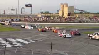 sportsdrome speedway extreme wing figure 8 triple 25 first race awesome run
