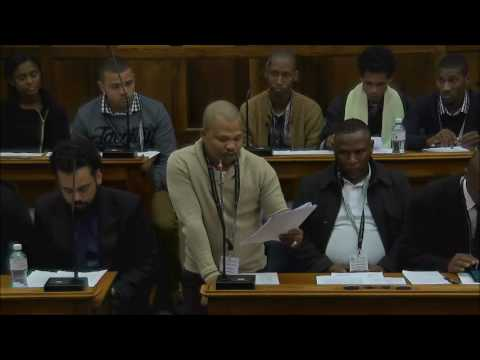 Western Cape Youth Parliament 10 June 2017