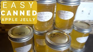 How to make and Preserve Apple Jelly- THE EASY WAY!