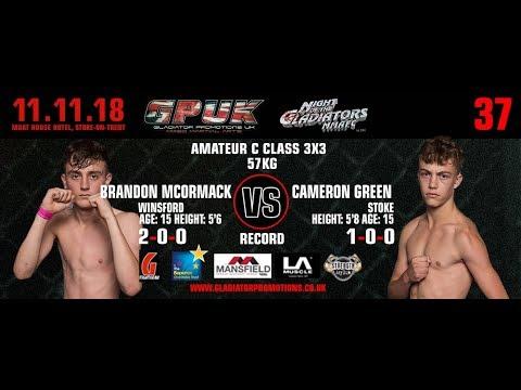 GPUK Night Of The Gladiators 37: Cameron Green VS Brandon Mckormack