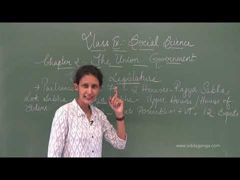 STATE 9 - SOCIAL - THE UNION GOVERNMENT - PART 1