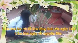 Cắm hoa lay ơn để bàn tặng tình yêu ngày 14/2 - Cắm hoa ngày tết nguyên đán