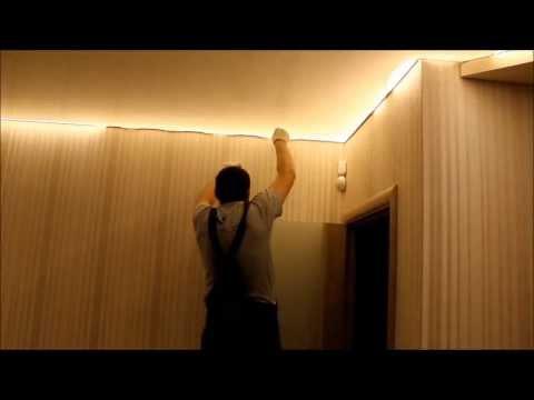 видео: Многоуровневый натяжной потолок со скрытой подсветкой от npotolok®  г. Минск