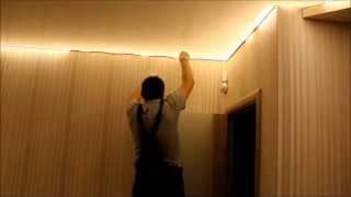 Многоуровневый натяжной потолок со скрытой подсветкой от NPOTOLOK®  г. Минск(Монтаж многоуровневого натяжного потолка со скрытой под потолком светодиодной подсветкой от компании..., 2013-11-08T10:25:30.000Z)