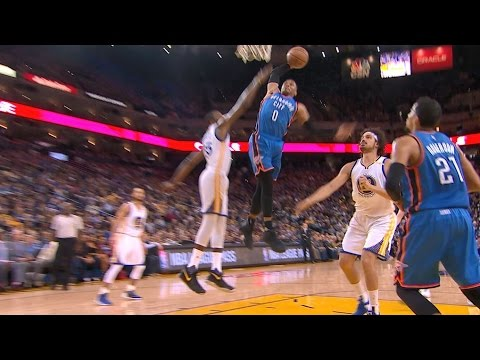 Westbrook with a Thunderous Dunk at Oracle   01.18.17