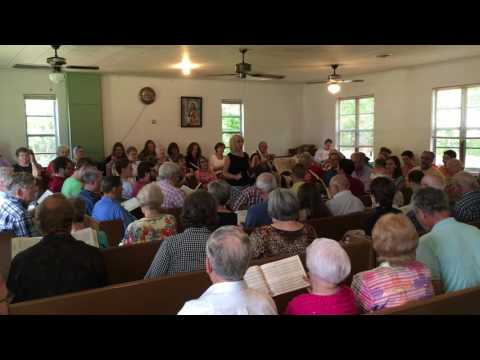 Elene Stovall leads Edom 200 at the 113th Lookout Mountain Sacred Harp Convention 8/27/16