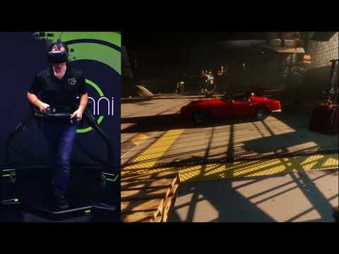 Ready Player One - Aech's Garage with Virtuix Omni