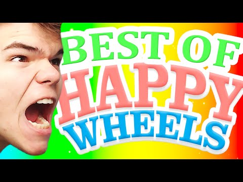 BEST OF HAPPY WHEELS  (Funny Moments)