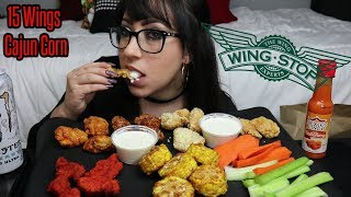 WINGS, CORN, VEGGIES, WINSTOP MUKBANG | EATING SHOW