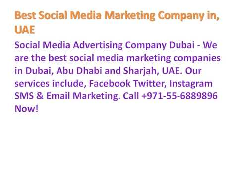Best Social Media Marketing Company in Dubai, Abu Dhabi, Sharjah