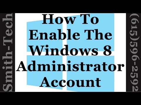 How To Enable Or Disable The Administrator Account In Windows 8 And 8 1