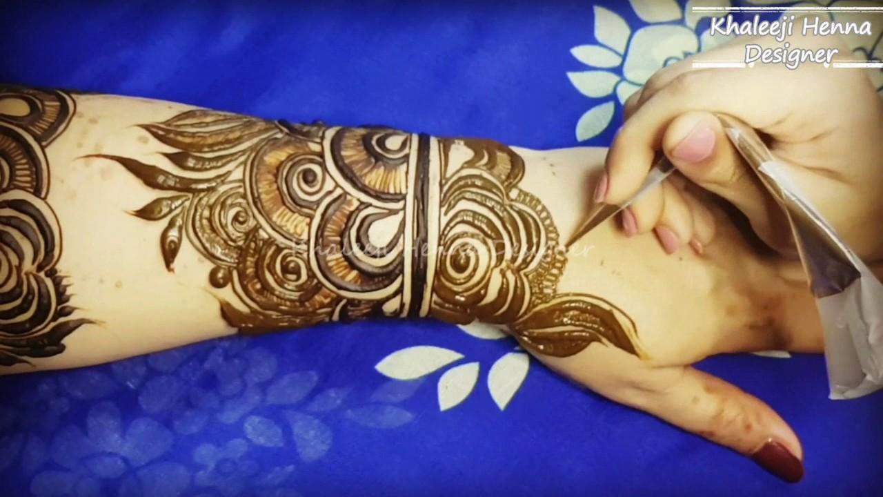 Dubai Arabic Mehndi Henna Design: Dubai Arabic /Gulf Saloon Style Henna Design