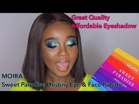 Affordable High Quality Eyeshadow  Moira  Sweet Paradise Destiny Palette  Beautybybniecy