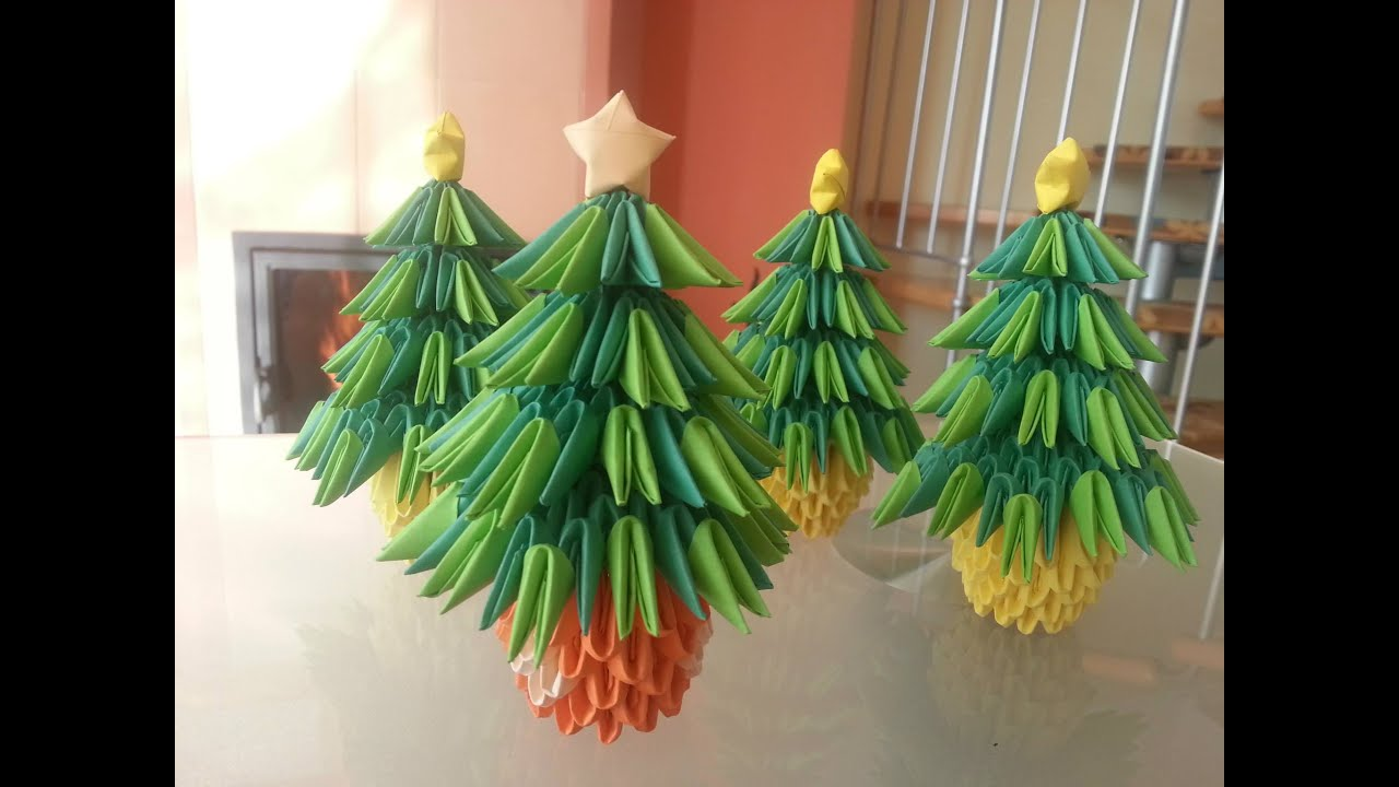 youtube how to make a origami christmas tree card