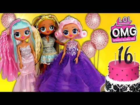 lol-omg-doll-family-birthday-morning-routine---sweet-sixteen-party