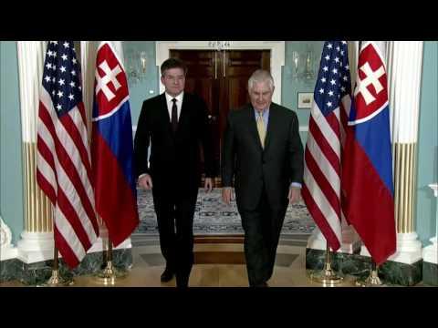 Secretary of State Rex Tillerson meets His Excellency Miroslav Lajcak