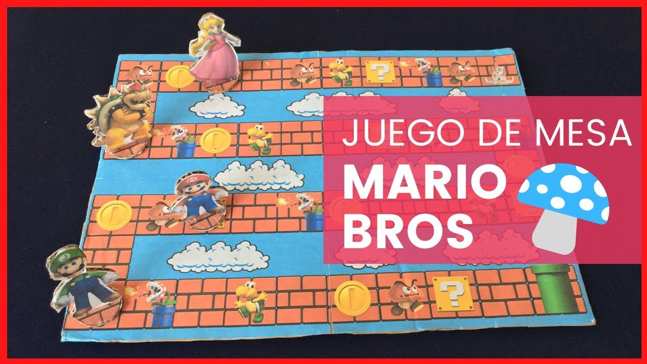 Como Hacer Un Juego De Mesa De Mario Bros Youtube