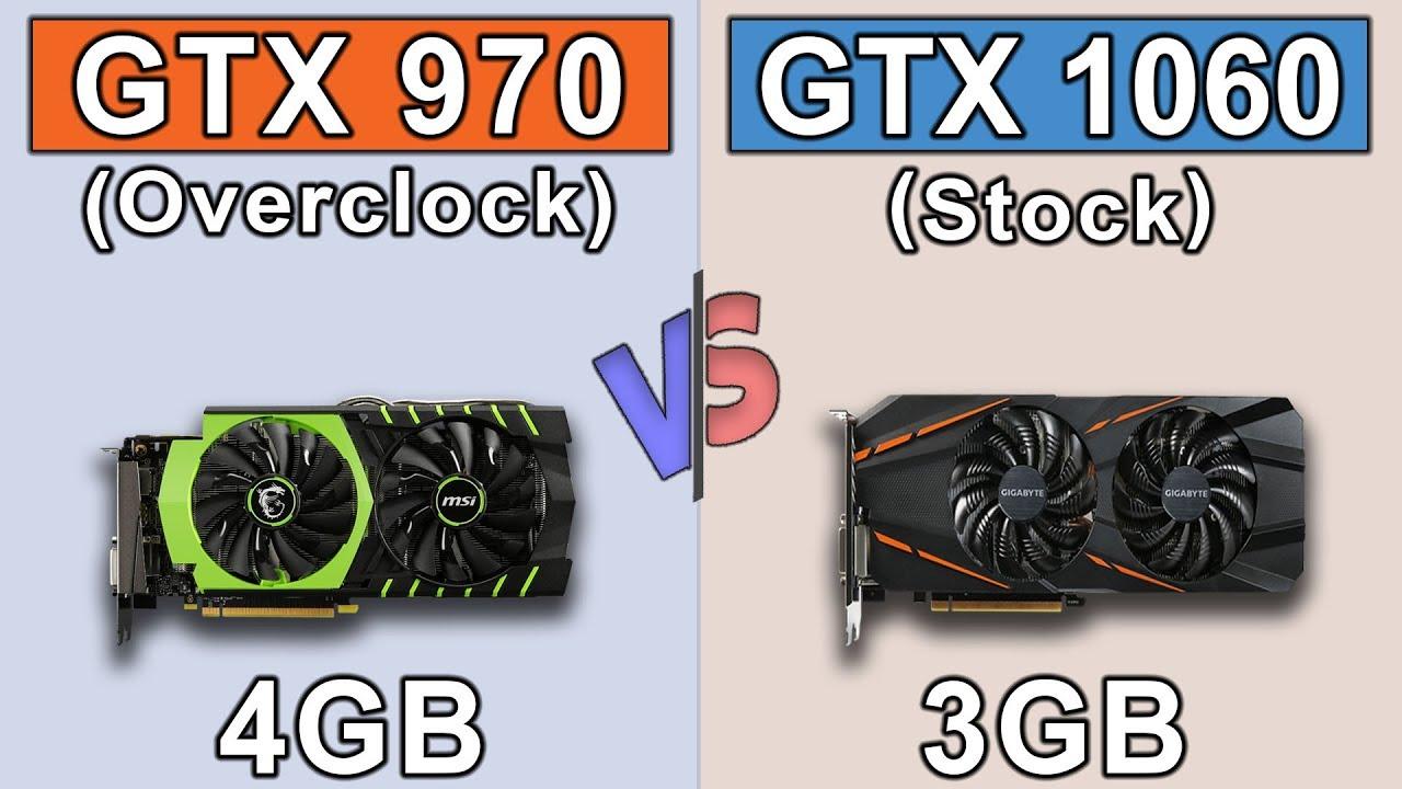 GTX 970 OC vs GTX 1060 3GB   New Games Benchmarks