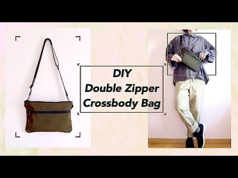 DIY Double Zipper Crossbody Bag // サコッシュバッグの作り方 / 手作教學 / Costura / Sewing Tutorialㅣmadebyaya