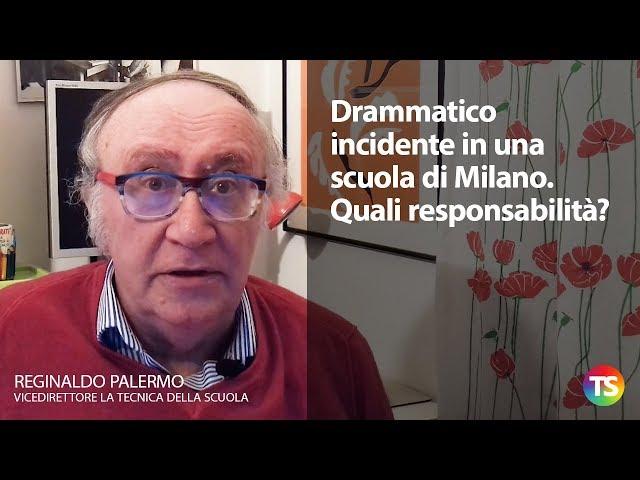 Drammatico incidente in una scuola di Milano. Quali responsabilità?