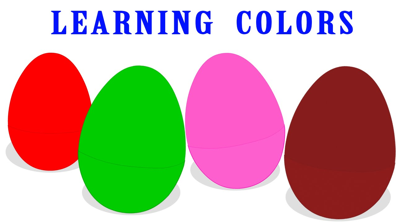 Surprise Eggs Crazy Cartoon Colors,Learn Colors with Surprise Eggs ...