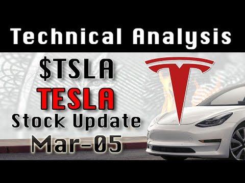 TESLA : TSLA Mar-05 Update StockMarket Technical Analysis Chart