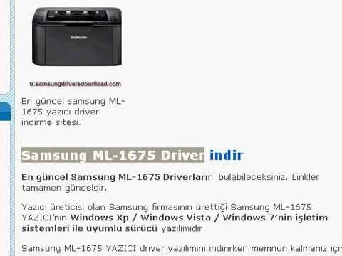Samsung monochrome laser printer ml 1675 driver.