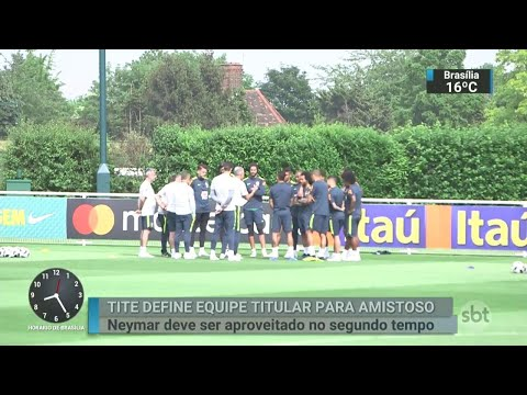 Tite define titulares para amistoso contra a Croácia | SBT Brasil (31/05/18)