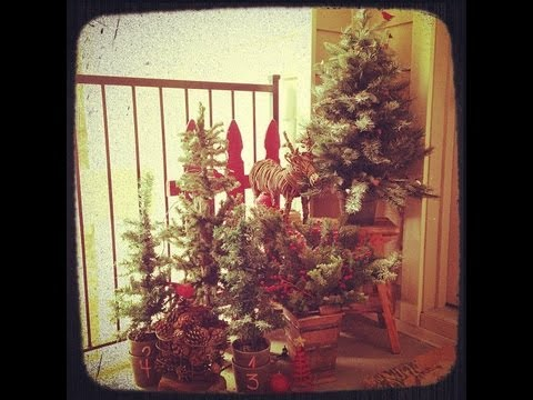 My Christmas Decor Outside Winter Forest On A Dime Diy How To Youtube