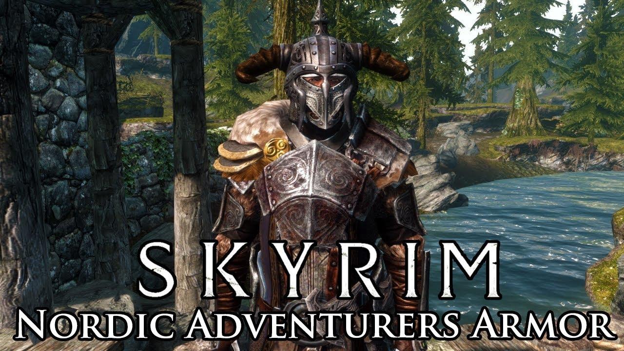 Skyrim Mod Nordic Adventurers Armor Youtube