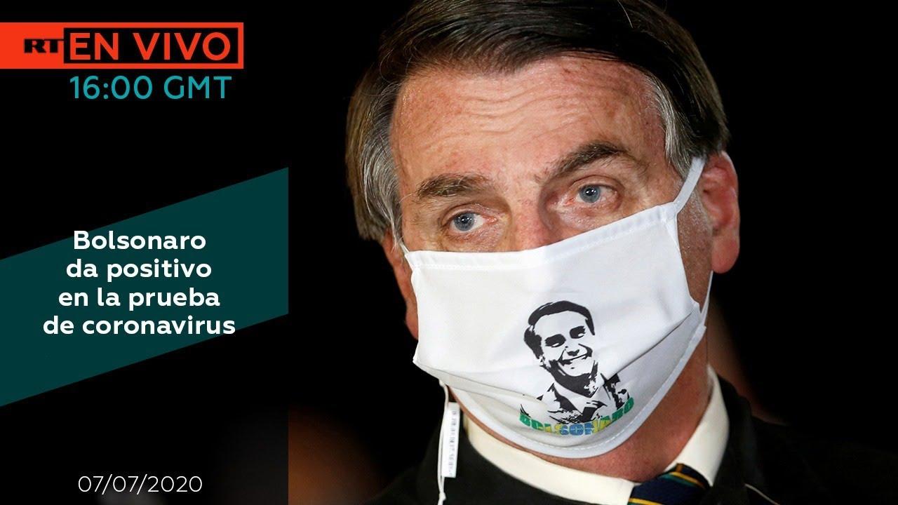 Bolsonaro da positivo en la prueba de coronavirus - NOTICIERO RT 07/07/2020