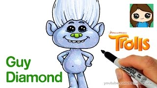 How to Draw Guy Diamond from Trolls Movie