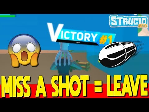 EVERY TIME I Miss A Shot I Leave The Game In Strucid (Roblox Fortnite)